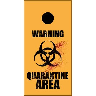 Lightning Cornhole Warning Quarantine Cornhole Board