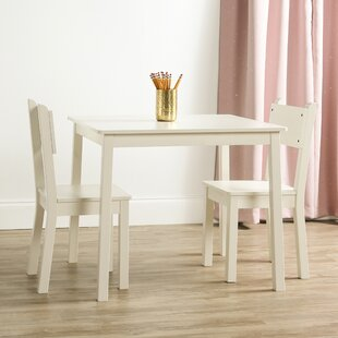 Katelin Kids 3 Piece Rectangular Table and Chair Set by Harriet Bee