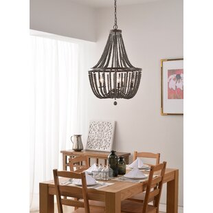 Small wood bead chandelier wayfair save aloadofball Image collections