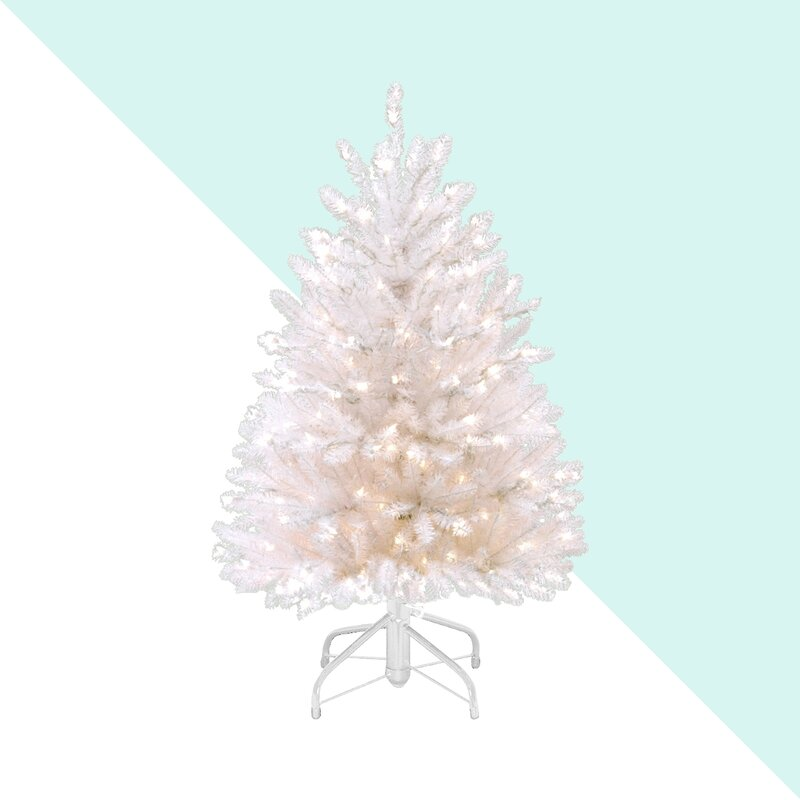 4 4 White Fir Artificial Christmas Tree With 450 Clear