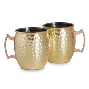Deveau Moscow Mule 450ml Stainless Steel Mug (Set Of 2) By Fairmont Park