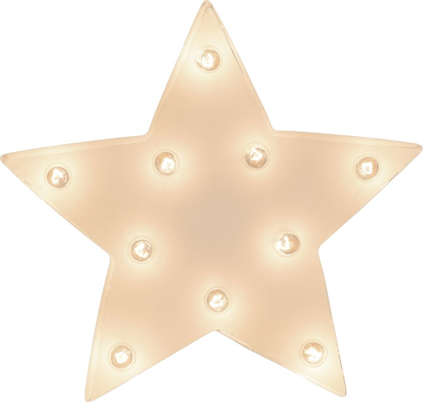 TrekDecor Star Indoor/Outdoor Marquee Light Wall Décor & Reviews ...