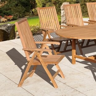 Aguinaldo Folding Teak Patio Dining Chair