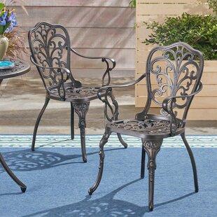 Fleur De Lis Living Storey Patio Dining Chair (Set of 2)