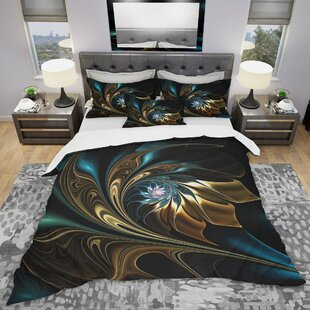 Fractal Flower Duvet Cover Set