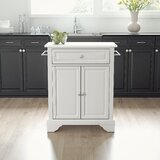 Apolonia Kitchen Cart with Granite Top by Winston Porter
