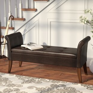 Three Posts Suzanne Upholstered Storage Bench