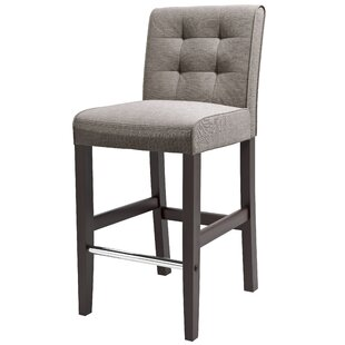 Compare & Buy Celia 31 Bar Stool in , Gray Tweed Fabric by Latitude Run Reviews (2019) & Buyer's Guide