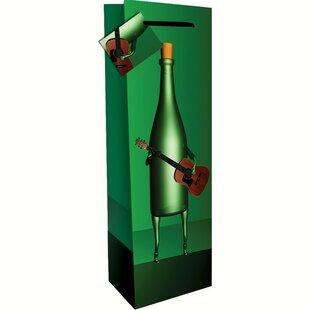 Printed Guitar Single Wine Carrier