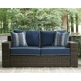 Loganville Loveseat with Cushions by Bay Isle Home
