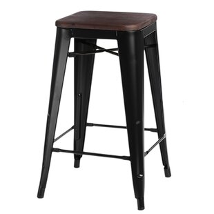 Jerome Wood Bar Stool By Williston Forge