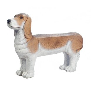 Small Basset Hound Doggy Garden Bench