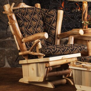Mountain Woods Furniture Aspen Heirloom Twig Art Glider