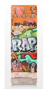 Graffiti Wall Mounted Coat Rack By East Urban Home