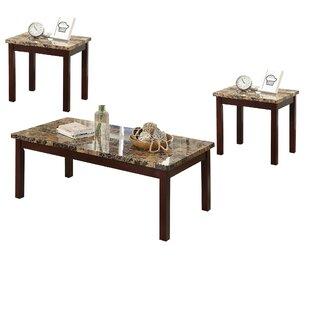 Winston Porter Atherste 3 Piece Coffee Table Set
