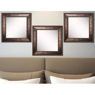 Derrik Copper Bronze Wall Mirror (Set of 3) ByAstoria Grand
