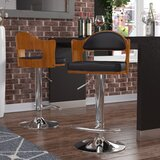 Cherryville Swivel Adjustable Height Bar Stool by Wade Logan®