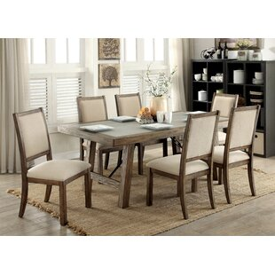 Gracie Oaks Vince Industrial Dining Table