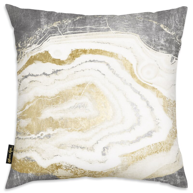 Mercer41 German Silver Gold Agate Throw Pillow & Reviews | Wayfair
