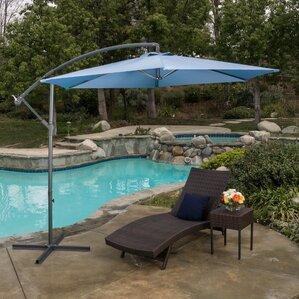 Solid 10  Cantilever UmbrellaPatio Umbrellas You ll Love   Wayfair. Patio Furniture With Umbrellas. Home Design Ideas