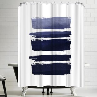 Ikonolexi Watercolor Strokes Single Shower Curtain