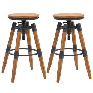 Loomis Height Adjustable Bar Stool (Set Of 2) By Borough Wharf