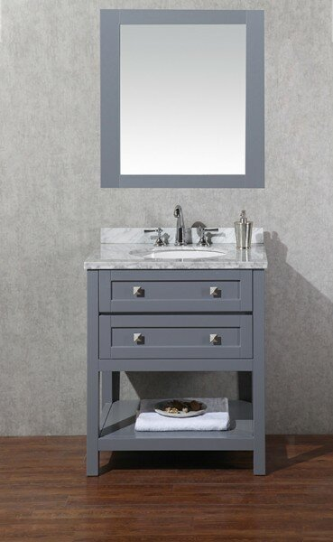 Whaley 48  Single Sink Bathroom Vanity Set with Mirror Brayden Studio
