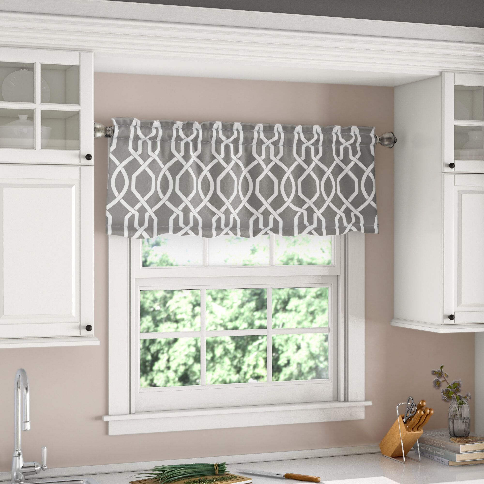 "Vance Room Darkening 22"" Window Valance"