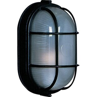 Affordable Price Munson 1-Light Outdoor Bulkhead Light By Breakwater Bay