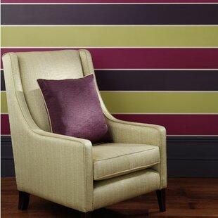 Viva 10.5m L x 52cm W Stripes Roll Wallpaper by Clarke&Clarke