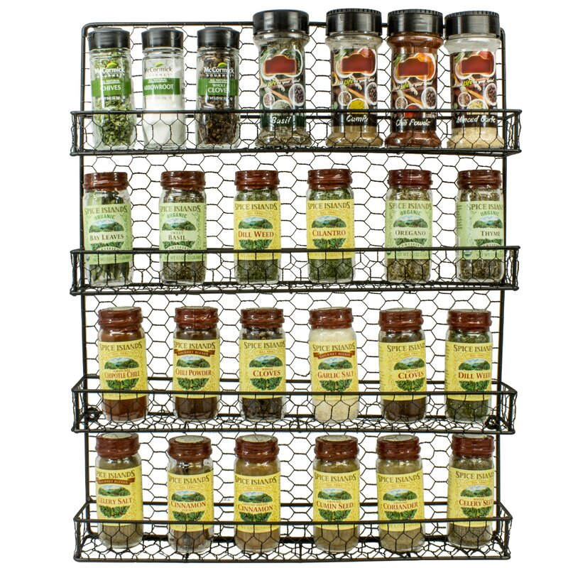4 Tier Wall Mounted Spice Rack