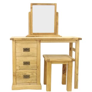 Nagle Dressing Table Set With Mirror By Alpen Home