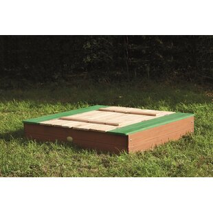 120cm Square Sandbox With Cover By Freeport Park