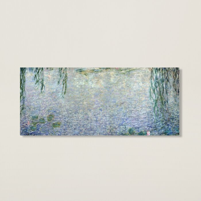 Water Lilies, Morning\' by Claude Monet Framed Oil Painting Print on ...