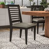 Riverdale Upholstered Slat Back Side Chair in Brown (Set of 2) by Wade Logan®