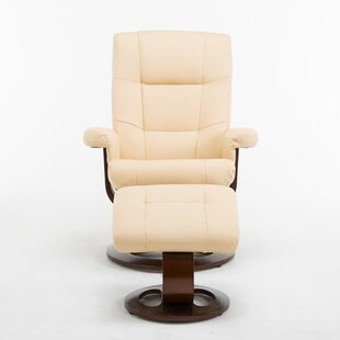 Cecilwood I-Comfy Manual Swivel Recliner with Ottoman Latitude Run