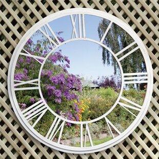 Roman Numerals Garden Wall Mounted Mirror