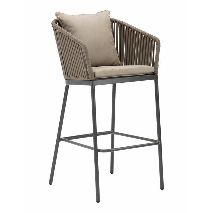 Astounding Captiva 30 Patio Bar Stool With Cushion Inzonedesignstudio Interior Chair Design Inzonedesignstudiocom