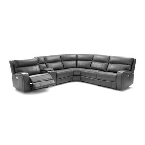 sc 1 st  Wayfair : white leather reclining sectional - Sectionals, Sofas & Couches