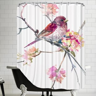 Rosefinch Single Shower Curtain