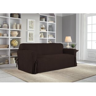 Box Cushion Sofa Slipcover by Serta