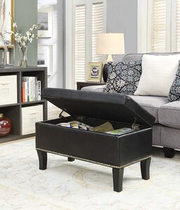 Pleasant Andover Mills Cohee Storage Ottoman Theyellowbook Wood Chair Design Ideas Theyellowbookinfo