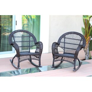 Wicker Rocker Chair (Set of 2)