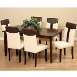 Saladin 7 Piece Solid Wood Dining Set by Winston Porter