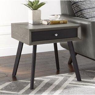 Affordable Price Bierce End Table with Storage By Corrigan Studio