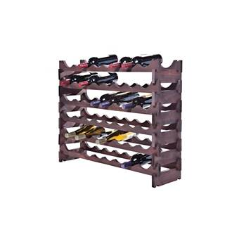 Red Barrel Studio Karnes Scalloped 36 Bottle Tabletop Wine Bottle Rack Wayfair