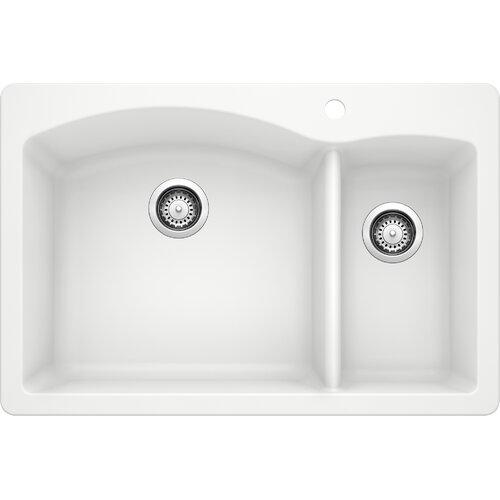 Blanco Diamond 33 L X 22 W Double Basin Undermount Kitchen Sink Reviews Wayfair
