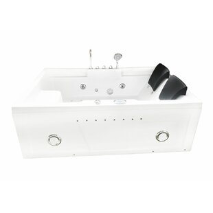 Best Yellowstone Hydrotherapy 2 Persons 71 x 47.5 Freestanding Whirlpool Bathtub By Simba USA Inc