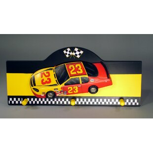 Race Car Wall Peg Figurine Wall Decor