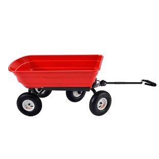 Capacity Plastic Garden Dump Hand Truck Dolly